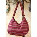 Cotton 'Garnet Synchronicity' Hobo Bag (Guatemala)