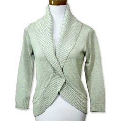 Handmade Women's Cotton 'Maya Mint' Cardigan Sweater (Guatemala)