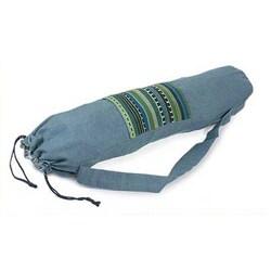 Handmade Cotton 'Atitlan Lake' Yoga Mat Bag (Guatemala)