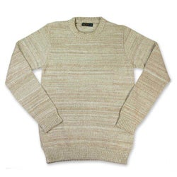 Men's Cotton 'Beige Crew' Sweater (Guatemala)