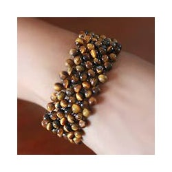 Tiger's Eye 'Mystical Muse' Stretch Bracelet (India)