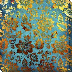 Gallery Direct 'Gold and Blue Vintage' Giclee Canvas Art