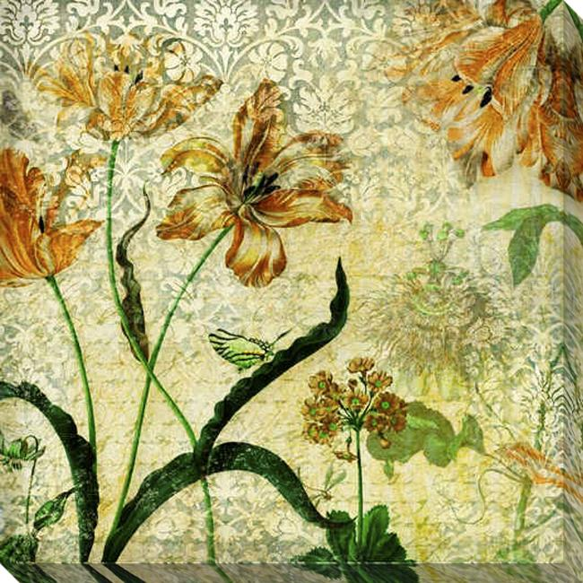 Gallery Direct 'Vintage Floral II' Giclee Canvas Art