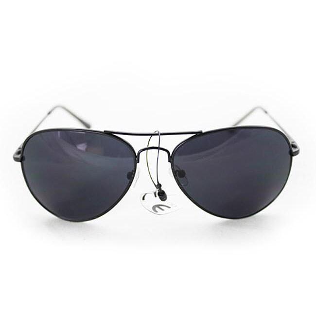 Women's 387 Black Aviator Sunglasses