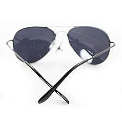 Women's 387 Black Aviator Sunglasses - Thumbnail 1