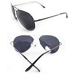 Women's 387 Black Aviator Sunglasses - Thumbnail 2