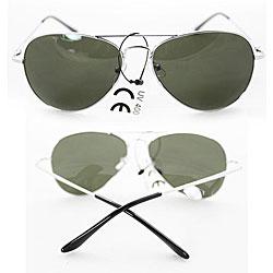 Women's 387 Silver Aviator Sunglasses