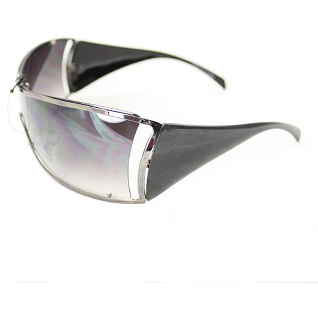 Women's 6787 Black Shield Sunglasses