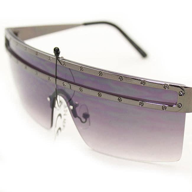 Women's M9371 Metallic Grey Square Sunglasses