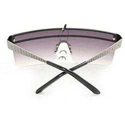 Women's M9371 Metallic Grey Square Sunglasses - Thumbnail 1