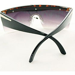Women's P1862 Gaga Square Black Sunglasses