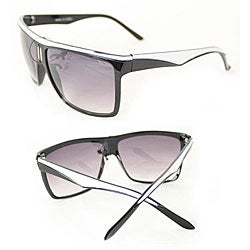Women's P1908 Black/ White Square Sunglasses - Thumbnail 2