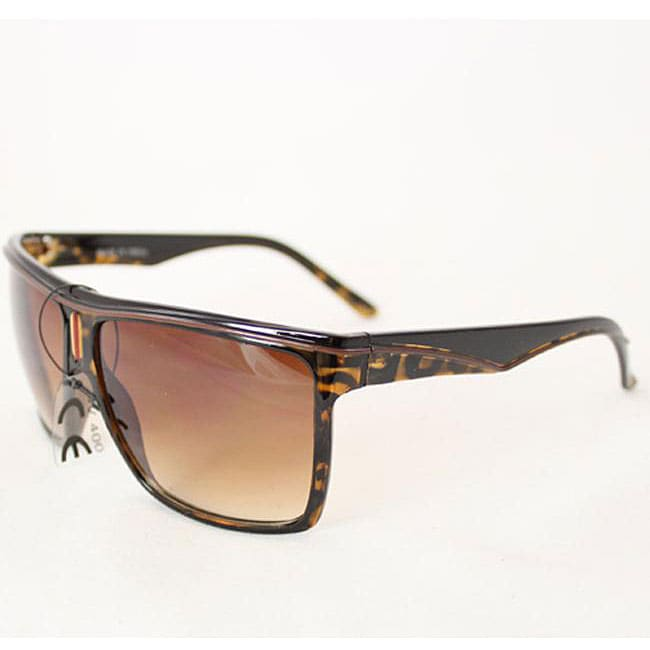 Women's P1908 Brown Leopard Square Sunglasses