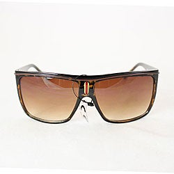 Women's P1908 Brown Leopard Square Sunglasses - Thumbnail 1