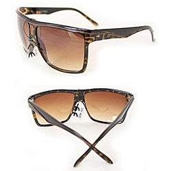 Women's P1908 Brown Leopard Square Sunglasses - Thumbnail 2