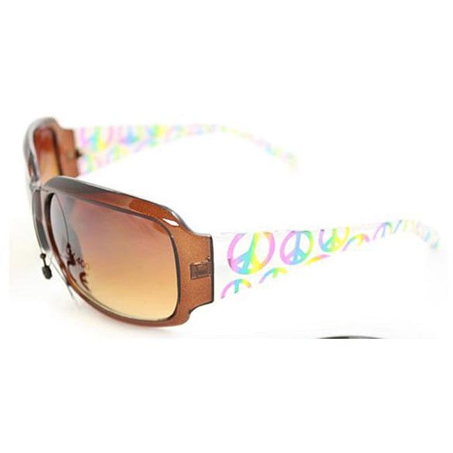 Women's P09109 Square Brown Leopard Sunglasses