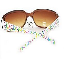 Women's P09109 Square Brown Leopard Sunglasses - Thumbnail 1