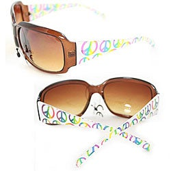 Women's P09109 Square Brown Leopard Sunglasses - Thumbnail 2