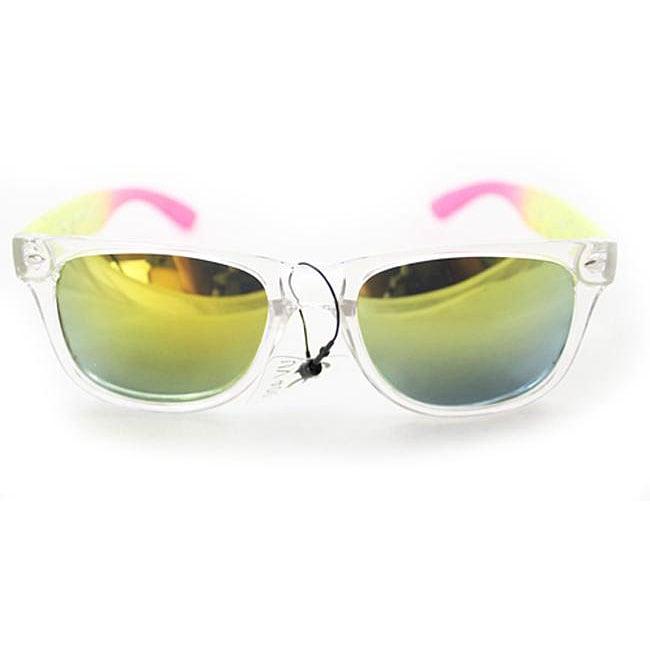 Women's P1912R Yellow/ Pink Fashion Sunglasses