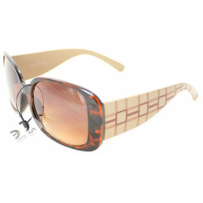 Women's 26510 Brown Checker Sunglasses