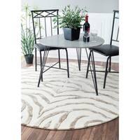 nuLOOM Handmade Animal Pattern Grey/Ivory Zebra Wool/ Viscose Rug - 6'