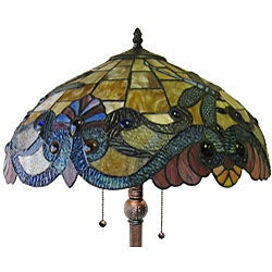 Dragonfly 2-light Antique Bronze Floor Lamp