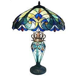 Tiffany-style Double Lit Table Lamp