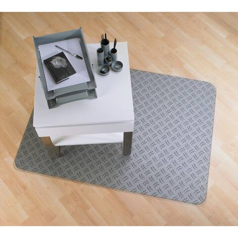 "Colortex Photomat Colourful Floor Mat with Reflective 'Gray Ripple' Design For Hard Floors Rectangular Size 36"" x 48"""