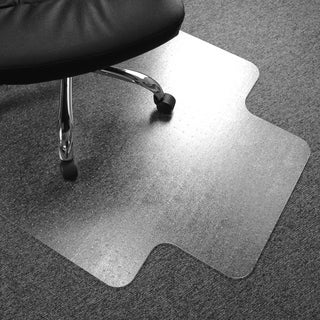 Cleartex Advantagemat PVC Clear Chairmat for Standard Pile Carpets 3/8, with Front Lip for Under Desk Protection (48 X 60)