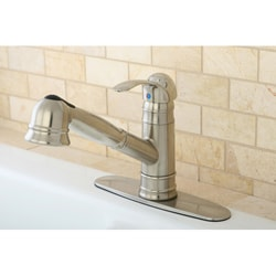 Eden Satin Nickel Pullout Kitchen Faucet