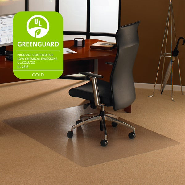 floortex cleartex ultimat rectangular chair mat 48 x 48 for carpet free shipping today