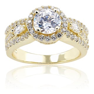 ICZ Stonez Round Cubic Zirconia Engagement Ring (More options available)