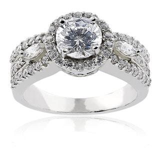 ICZ Stonez Round Cubic Zirconia Engagement Ring