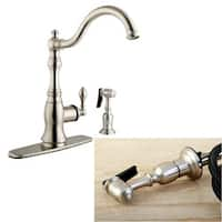 American Classic Satin-Nickel Single-Handle Swivel Kitchen Faucet