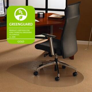 Floortex Cleartex Ultimat Polycarbonate Contoured Chair Mat (39 x 49) for Carpet