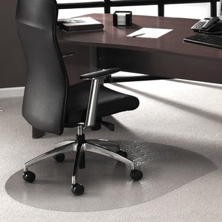 "Cleartex Ultimat Contoured Chair Mat Polycarbonate For Low & Medium Pile Carpets (up to 1/2"") Size 39"" x 49"""