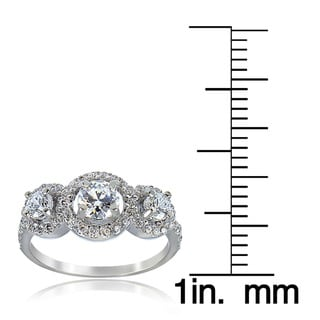 Icz Stonez Sterling Silver Cubic Zirconia Engagement Ring