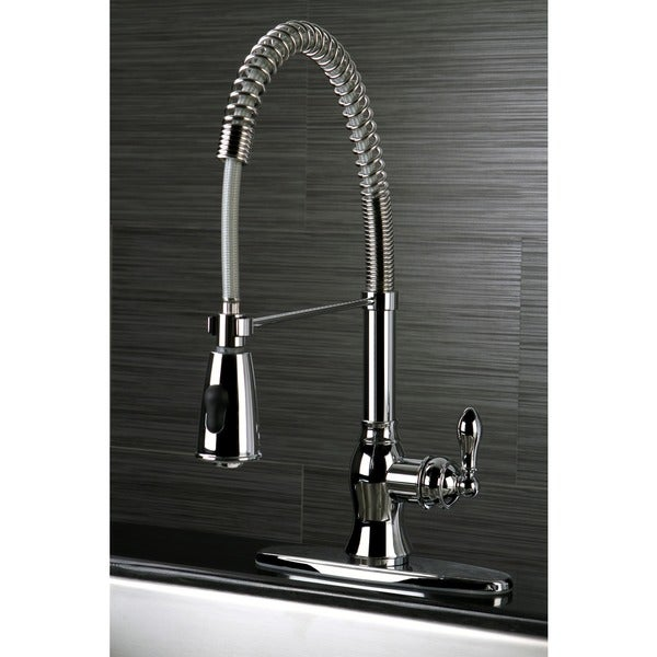 Shop American Classic Modern Chrome Spiral Pull Down Kitchen Faucet