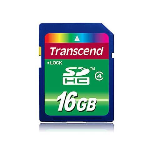 Transcend 16GB SDHC Flash Memory Card