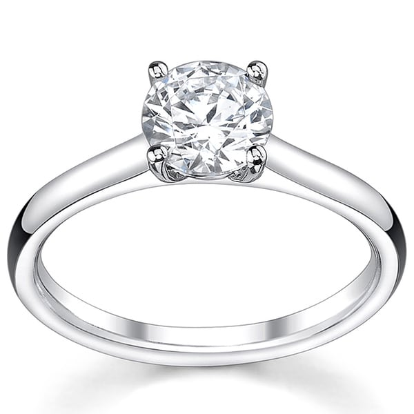 14k White Gold 1/2ct TDW Diamond Solitaire Engagement Ring (I, VS2)