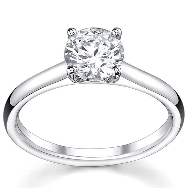 14k White Gold 1/2ct TDW Diamond Solitaire Engagement Ring
