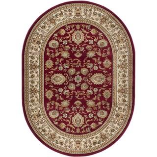 Alise Soho Traditional Style Oval Rug (5'3 x 7'3)