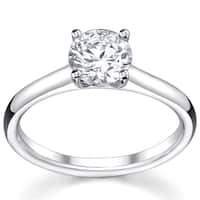 14k White Gold 1ct TDW Diamond Solitaire Engagement Ring