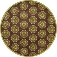 Artist's Loom Hand-tufted Transitional Floral Wool Rug - 7'9