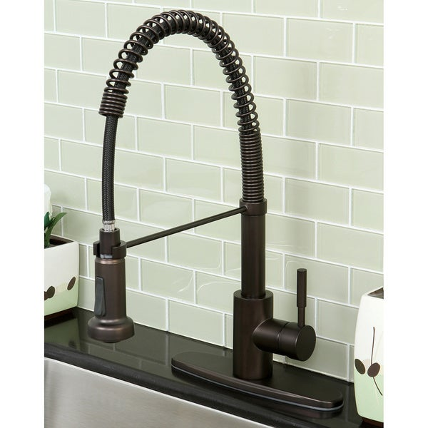 Shop Concord Modern Oil Rubbed Bronze Spiral Pull Down Kitchen