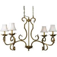 AF Lighting 6735-4H 6735 4-Light Chandelier - Gold