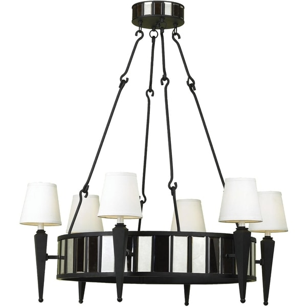 6790 6-Light Drum Chandelier - Black