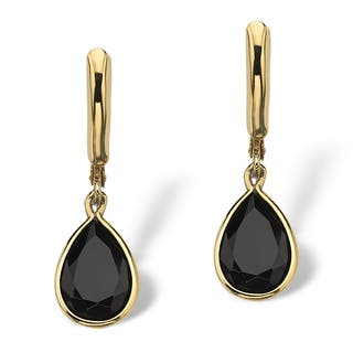 Pear-Shaped Genuine Onyx 14k Yellow Gold-Plated Drop Earrings Naturalist|https://ak1.ostkcdn.com/images/products/5267597/P13084539.jpg?impolicy=medium