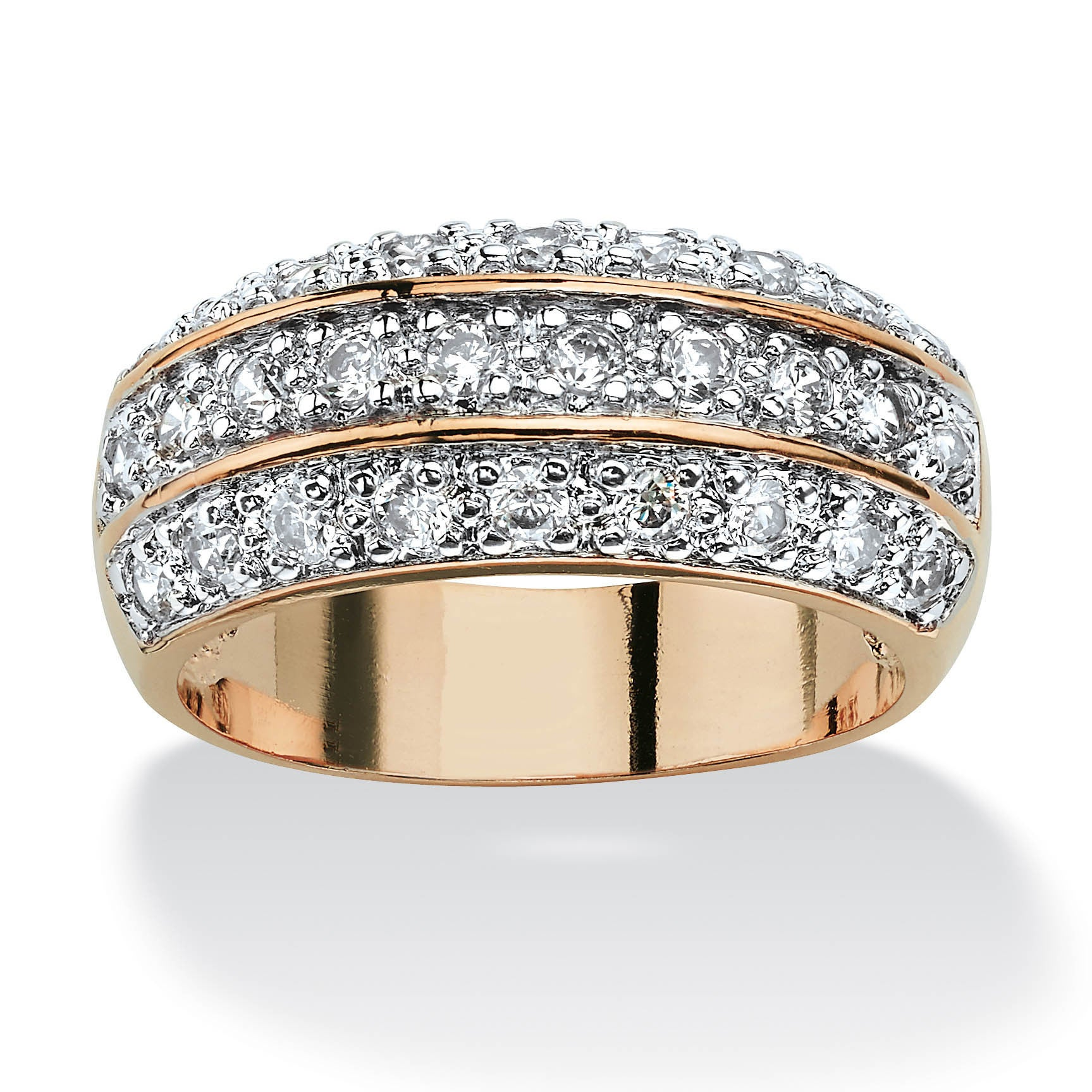 Ring Zircon Copper Plated 925 Silver Ring Birthday Gift Size : 9