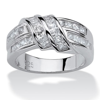1.54 TCW Princess-Cut Cubic Zirconia Ring in .925 Sterling Silver Classic CZ